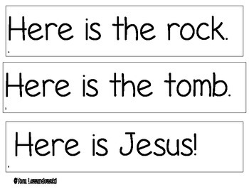 Emergent Reader Easter Sentence Strips