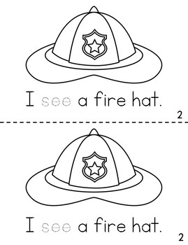 Emergent Reader FREEBIE - I See a Firefighter