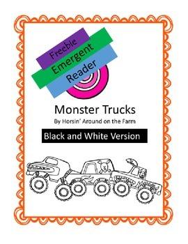 Emergent Reader FREEBIE -Monster Trucks