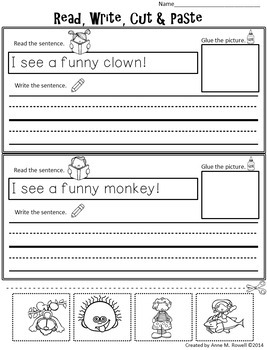 Emergent Reader FREEBIE for the Sight Word FUNNY {Sight Word Books}