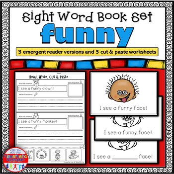 Emergent Reader FREEBIE for the Sight Word FUNNY {Sight Wo