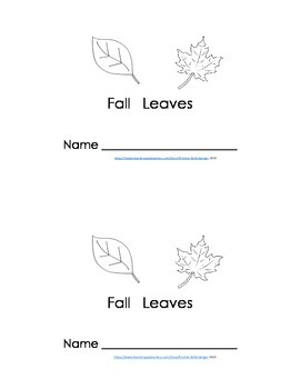 Emergent Reader - Fall Leaves