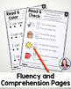 Fluency and Comprehension Worksheets - CVC Words