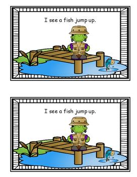 Emergent Reader - Frankenstein Likes Fishing
