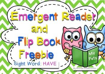Emergent Reader & Flip Book for Sight Word ~ HAVE ~ Freebie