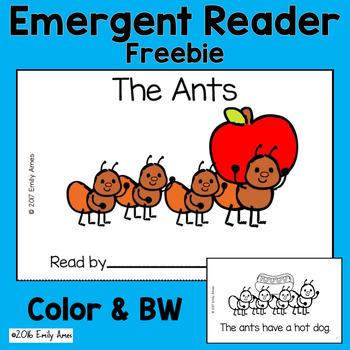 Emergent Reader Freebie - The Ants