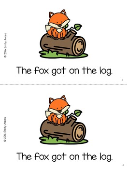 "Emergent Reader Freebie - ""The Fox"" (CVC, Short O)"