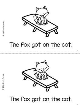 """Emergent Reader Freebie - """"The Fox"""" (CVC, Short O)"""