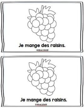 Emergent Reader - Fruits -- Les fruits - Little book - French Immersion