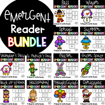 Emergent Reader GROWING Bundle! {Read and Write Books For the Whole Year!}