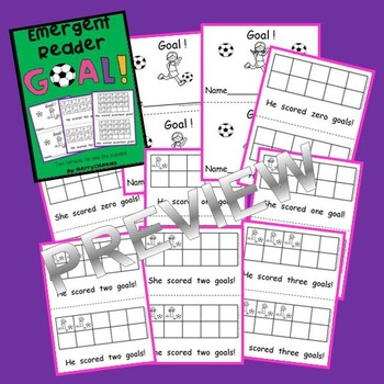 Soccer Emergent Reader (Two Versions: He and She included)