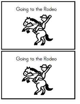 Emergent Reader - Going to the Rodeo - Sight words: I, put, on, and my