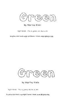 Emergent Reader: Green