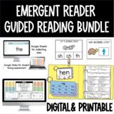 Emergent Reader Virtual Guided Reading BUNDLE for Google Slides (Level A-C)