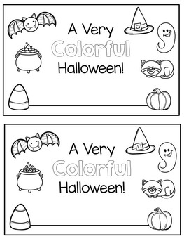 Emergent Reader - Halloween Color Words