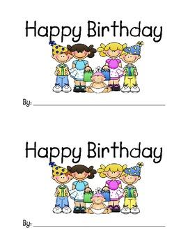 Emergent Reader - Happy Birthday Book