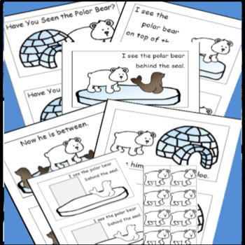 Polar Bears Emergent Reader, Positional Words Cut and Paste, Polar Animals