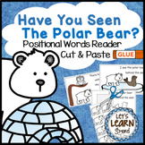 Polar Bears Emergent Reader, Positional Words Cut and Past