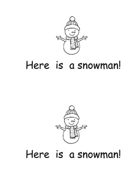 Snowman Emergent Reader Here is a