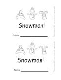 Snowman Emergent Reader Here is a