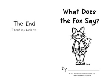 """Emergent Reader - High Frequency Word """"said"""" - What Does the Fox Say?"""