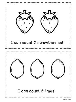 Emergent Reader: I Can Count Fruit