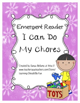 Emergent Reader: I Can Do My Chores