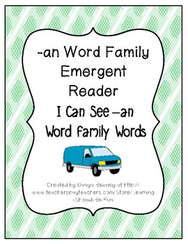 -an Word Family Emergent Reader:  I Can See an Word Family Words