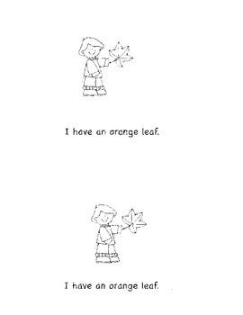 Emergent Reader:  I Like Fall Leaves