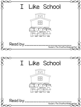 Emergent Reader: {I Like School}