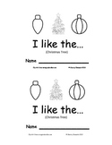 Christmas Tree Emergent Reader I Like The