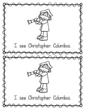 Emergent Reader:  I See Christopher Columbus