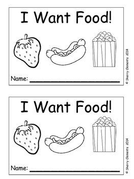 Food Emergent Reader I Want Food