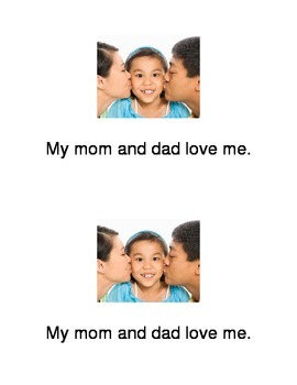 Emergent Reader: I love my family
