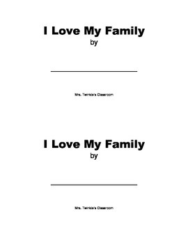 Emergent Reader: I love my family