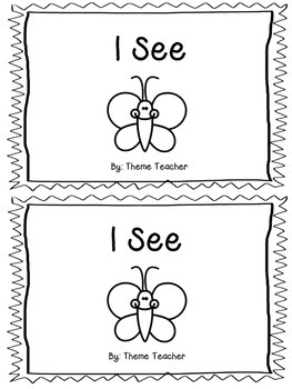 "Emergent Reader ""I see"" Read and Color"