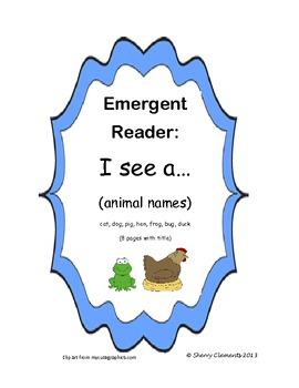 Animal Emergent Reader I see a (animal)
