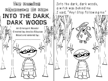 Emergent Reader- INTO THE DARK DARK WOODS (into, I, me)