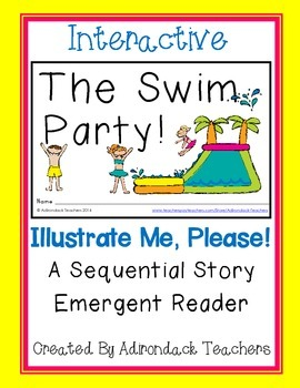 """Emergent Reader """"The Swim Party!"""" An Interactive Sequential Story"""