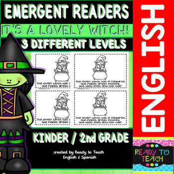 "Emergent Reader ""Its a Lovely Witch"" ( 3 Levels)"