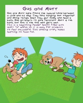 Emergent Reader Lesson - Gus and Mutt (short u words)
