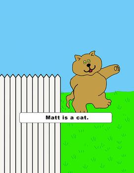 Emergent Reader Lesson - Matt The Cat - (short a words)