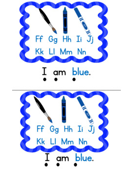 Emergent Reader Level A with Sight Words I  AM & COLOR WORDS K Reading Street