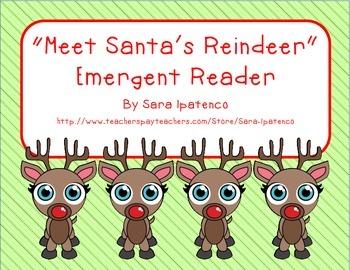 """Emergent Easy Reader: """"Meet Santa's Reindeer"""""""