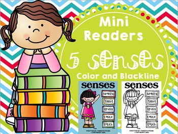 Emergent Reader (Mini Book) - Senses