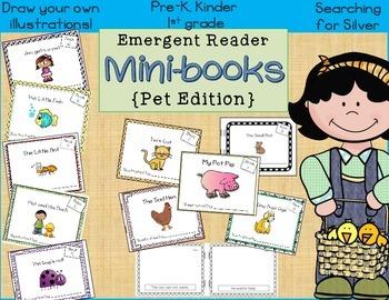 Emergent Reader Mini-Books {Pet Edition}