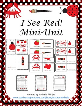 Emergent Reader Mini-Unit - I See Red!