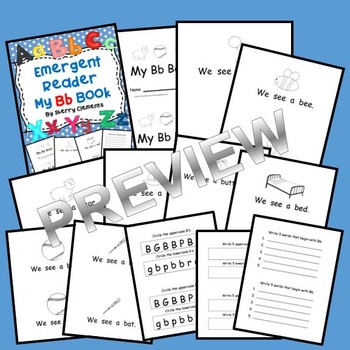 Letter Bb Emergent Reader Sight Words (we, see, a)