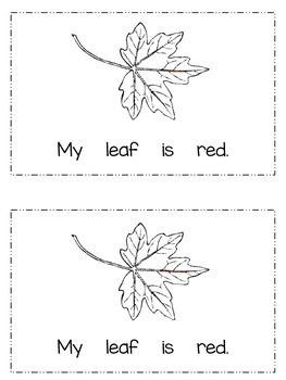 Emergent Reader: {My Colorful Leaves}