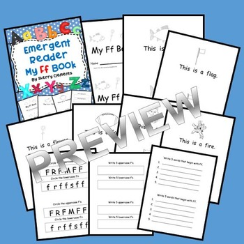 Letter Ff Emergent Reader Sight Words (this, is ,a)